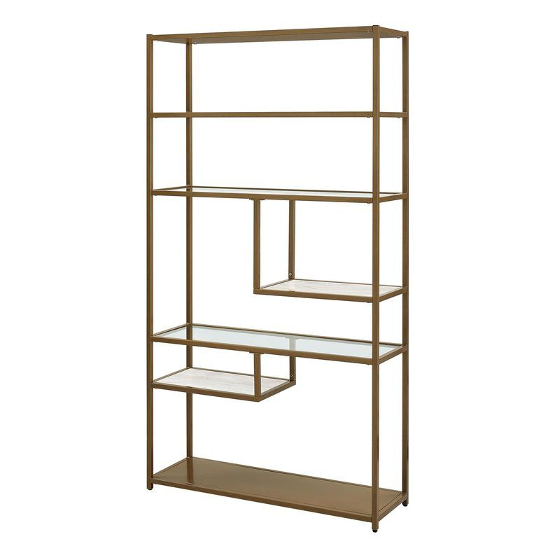 Kit Geometric Bookcase With Images Dorel Living Etagere
