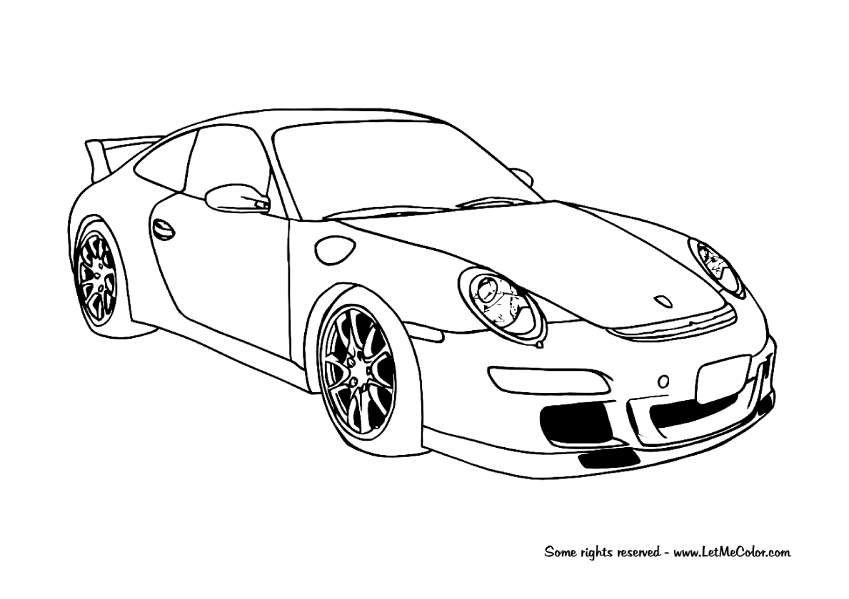 Coloring derby cars - Online 25 Sports Car Coloring Pages For Children 14 Printable Coloring