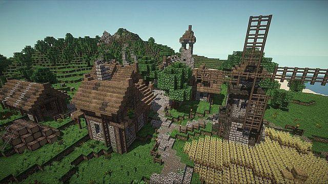 Medieval village | +download minecraft map.