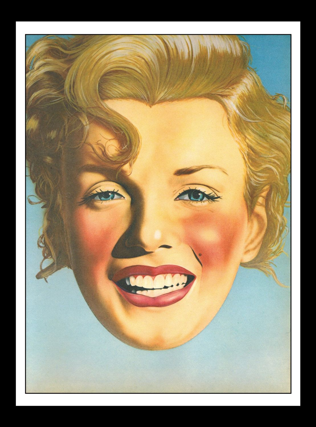 Playboy Vintage Pinup May 1979 Marilyn Monroe Illustration By Dennis ...