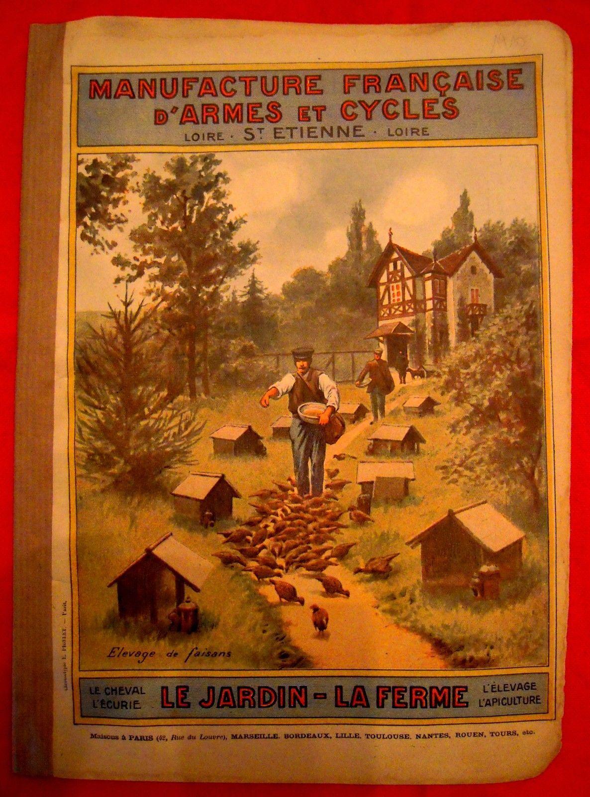 Manufrance 1910 Catalogue Agriculture Jardin Ferme Vin Cave