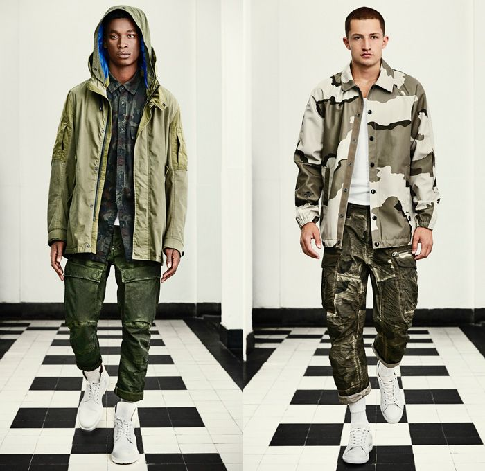 g star raw amsterdam 2016 spring summer mens lookbook desert military camouflage vintage. Black Bedroom Furniture Sets. Home Design Ideas