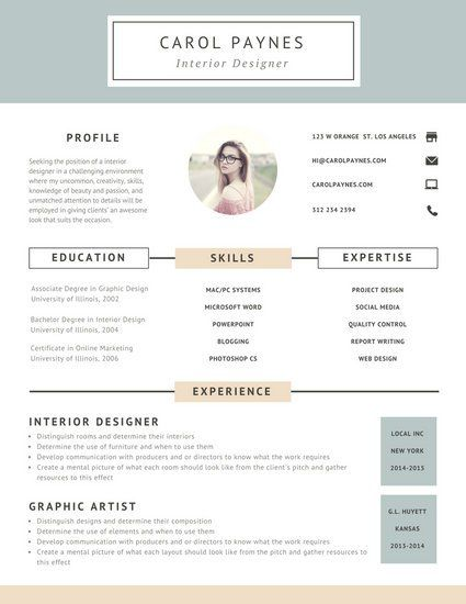Image result for resume design Graphic Design Pinterest - associate degree resume