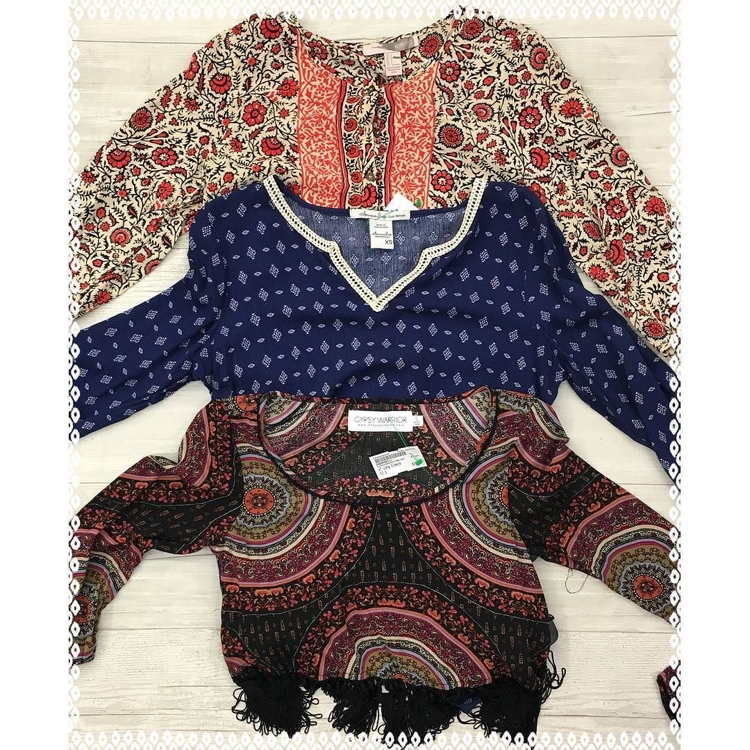 Boho vibesWe've got patterns on patterns on patterns to complete your boho hippie look! These beauties available only at our Harwood Heights location!