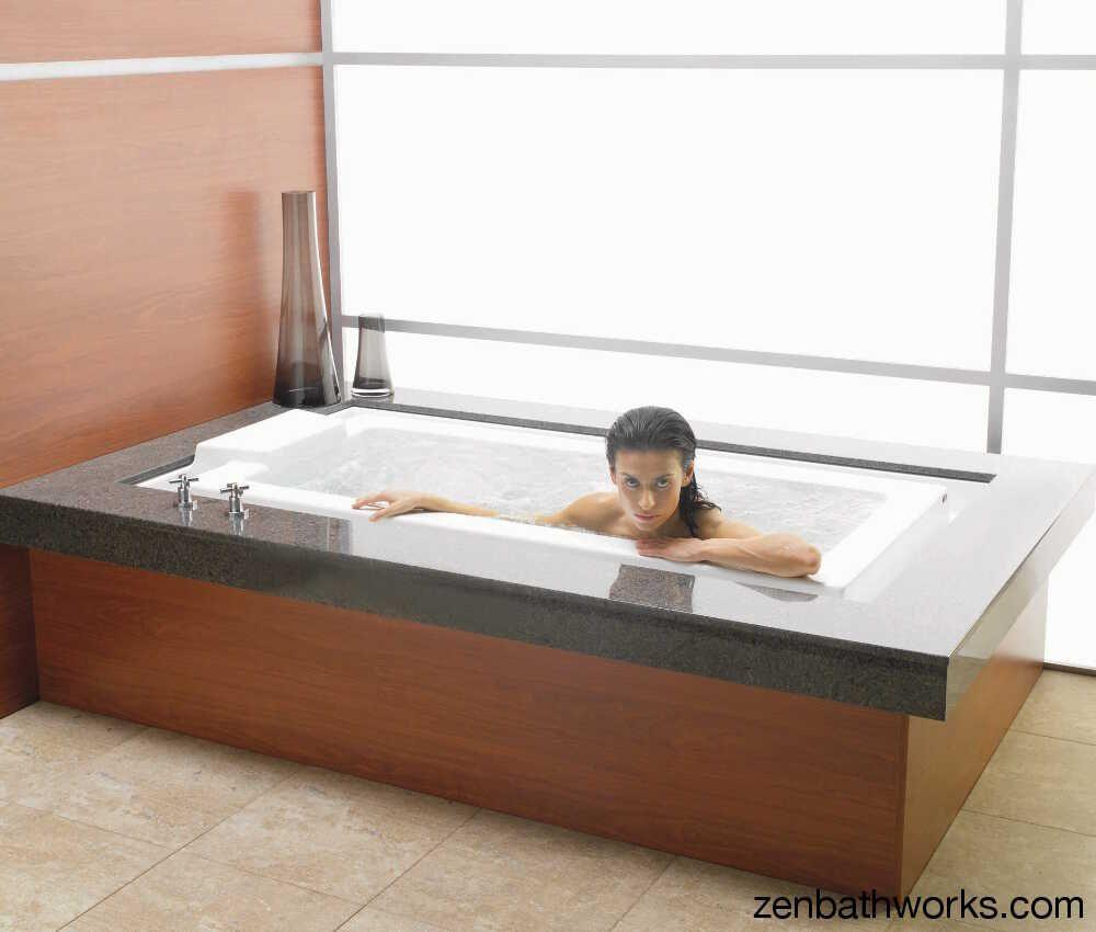 Infinity Edge Tub The Kara Is A Deep Soaking Design Japanese