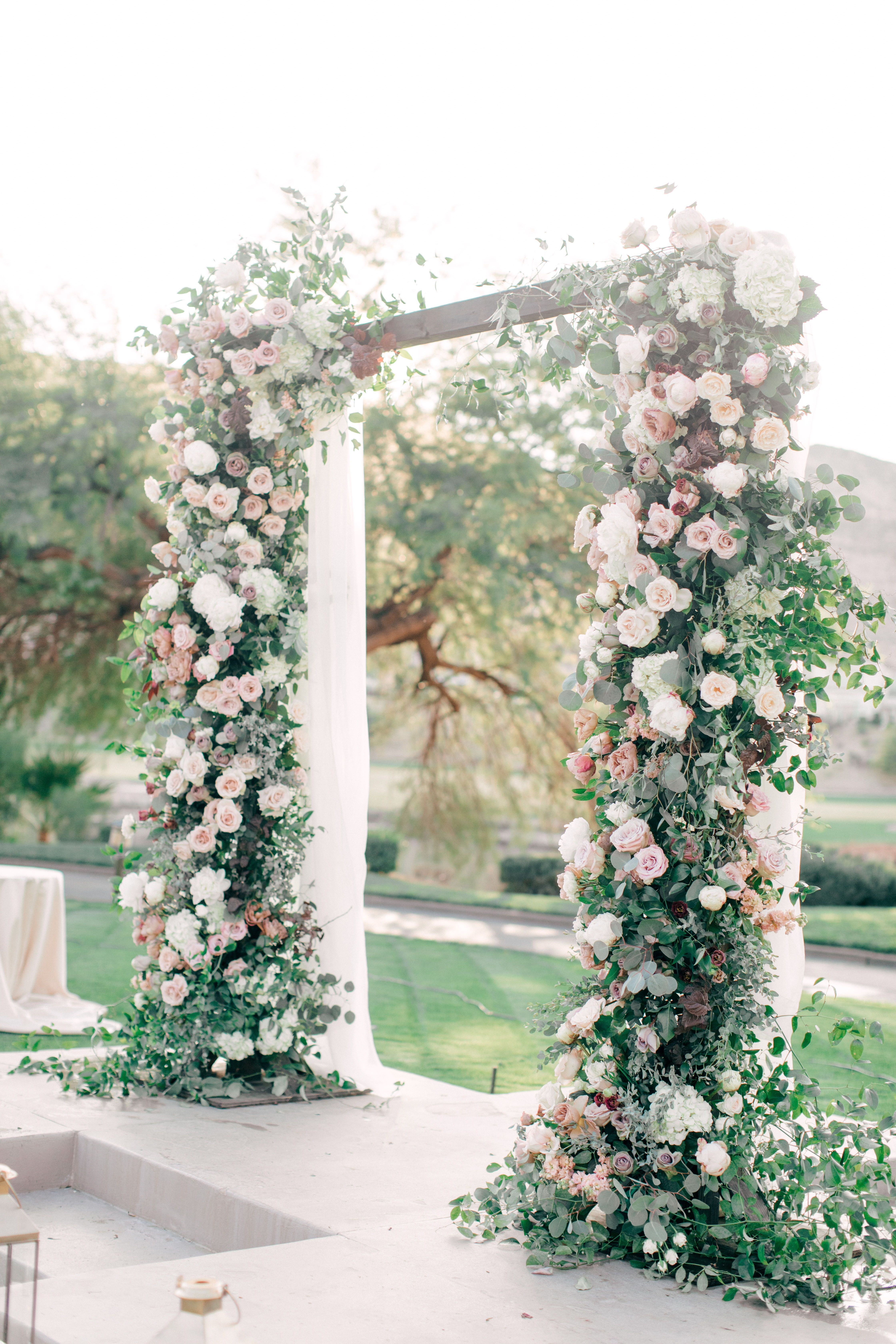 Square Wedding Arch By Layers Of Lovely Red Rock Country Club In 2020 Vegas Wedding Venue Wedding Arch Las Vegas Wedding Venue