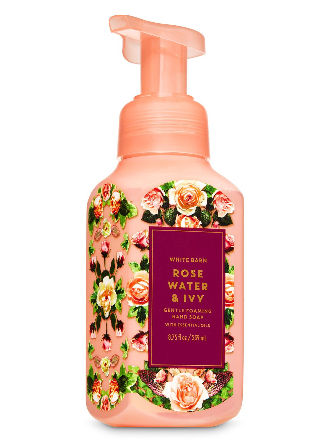 Rose Water Ivy Home Fragrance Set Hand Soap Room Spray