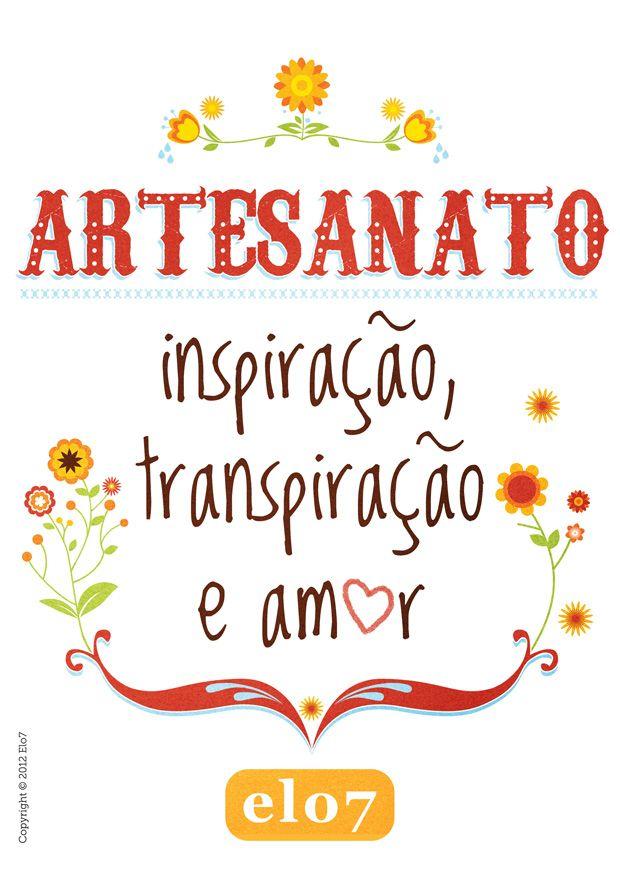 Artesanato De Olinda Pernambuco ~ Um p u00f4ster para inspirar e embelezar seu ateli u00ea Amor, Inspiraç u00e3o e Cartazes