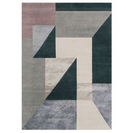Love This Triangle Art Deco Style Rug In Black And Grey Linie