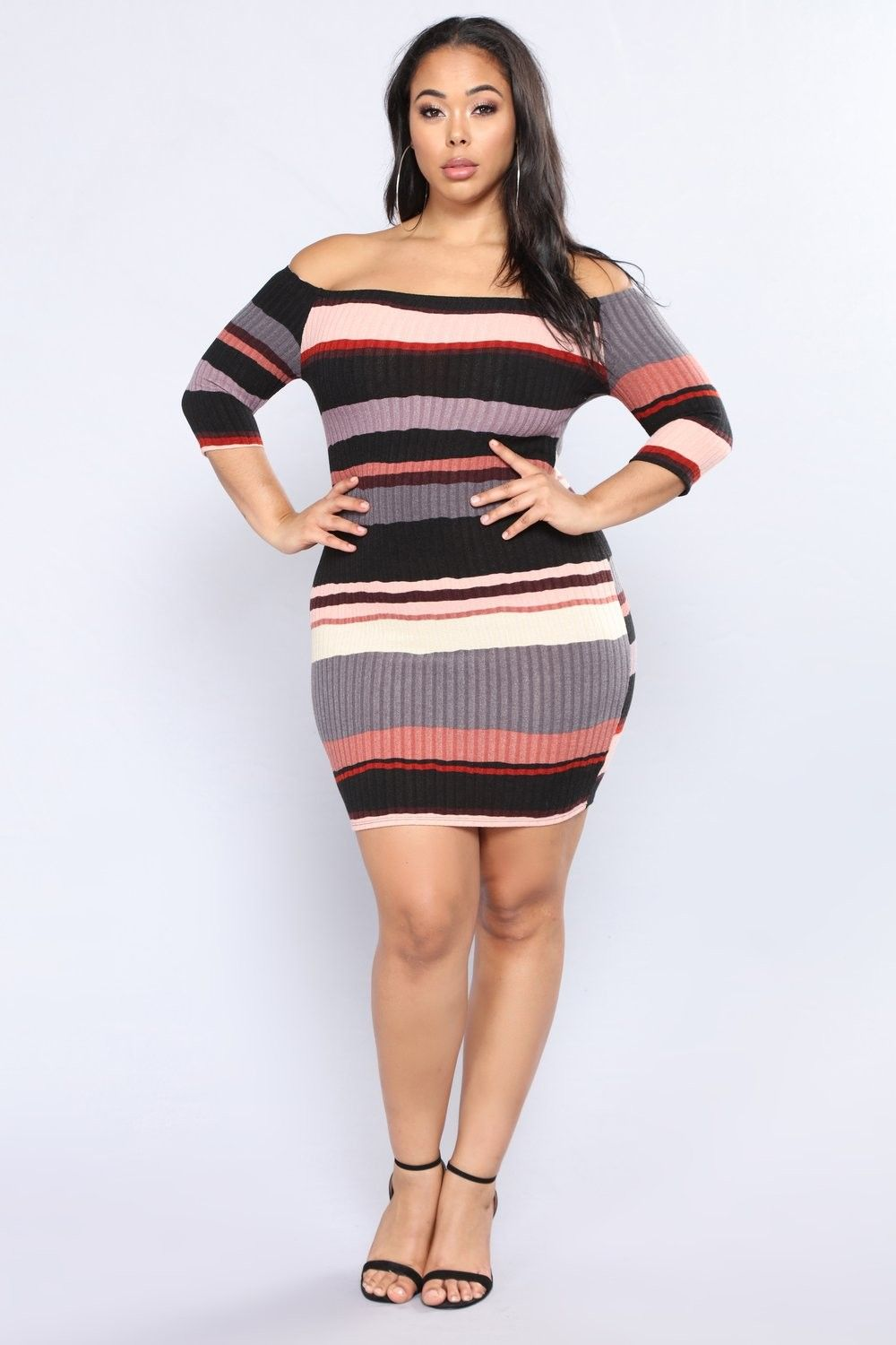 abe71cda3 Plus Size Hold Him Tight Striped Dress - Pink Multi  24.99  fashion  ootd