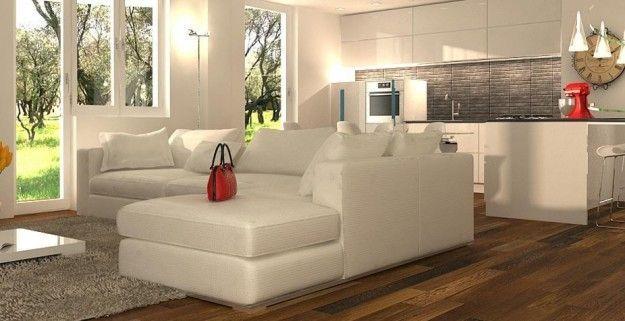 Come arredare cucina e soggiorno in un open space for Salotto casa moderna