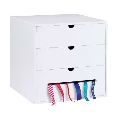 The Recollections Drawer Cube Is The Perfect Storage Solution For A Small Space With Two Drawers Craft Room Storage Scrapbook Storage Craft Room Organization