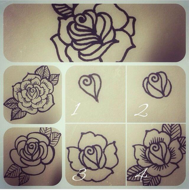 Learn How To Henna Henna Henna Flower Step By Step Henna Henna Tattoo Designs Flower Henna Diy Henna