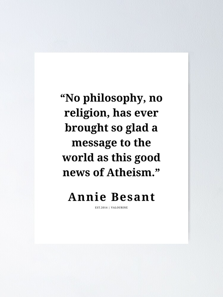 4  | Annie Besant Quote| 210311| New Thoughts  Poster by QuotesGalore