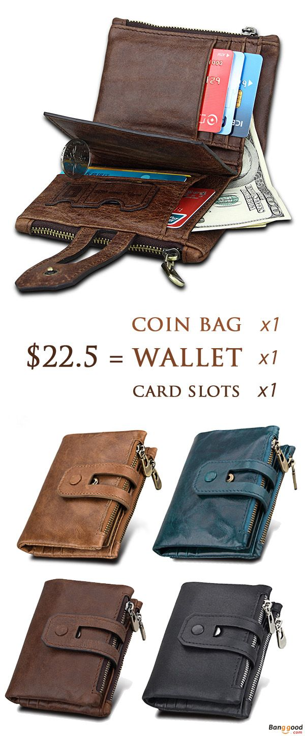 Rfid Blocking Secure Wallet 11 Card Slots Vintage Genuine Leather