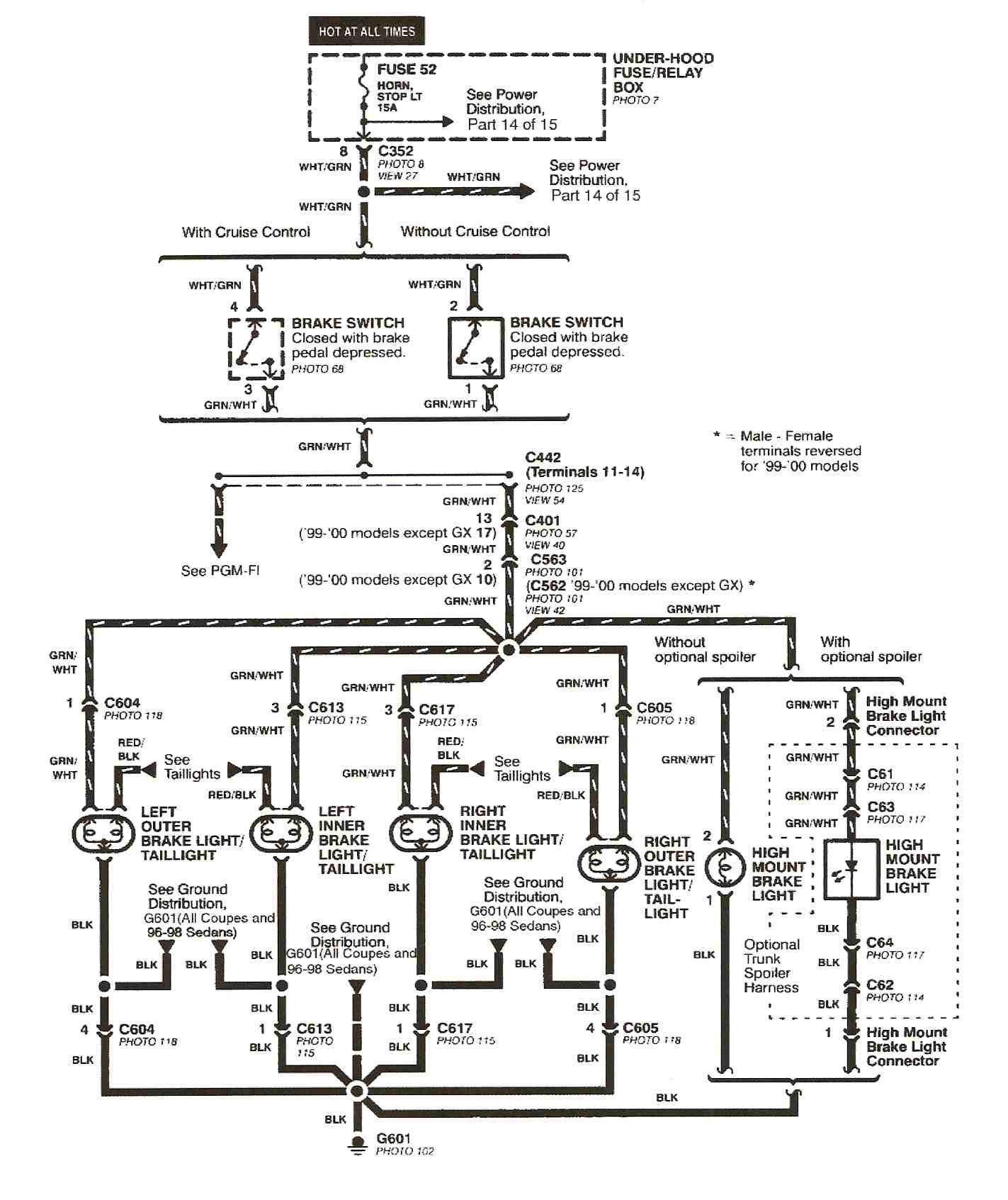 Awesome 1998 Honda Civic Wiring Diagram In 2020 2000 Honda Civic Honda Civic Engine Honda
