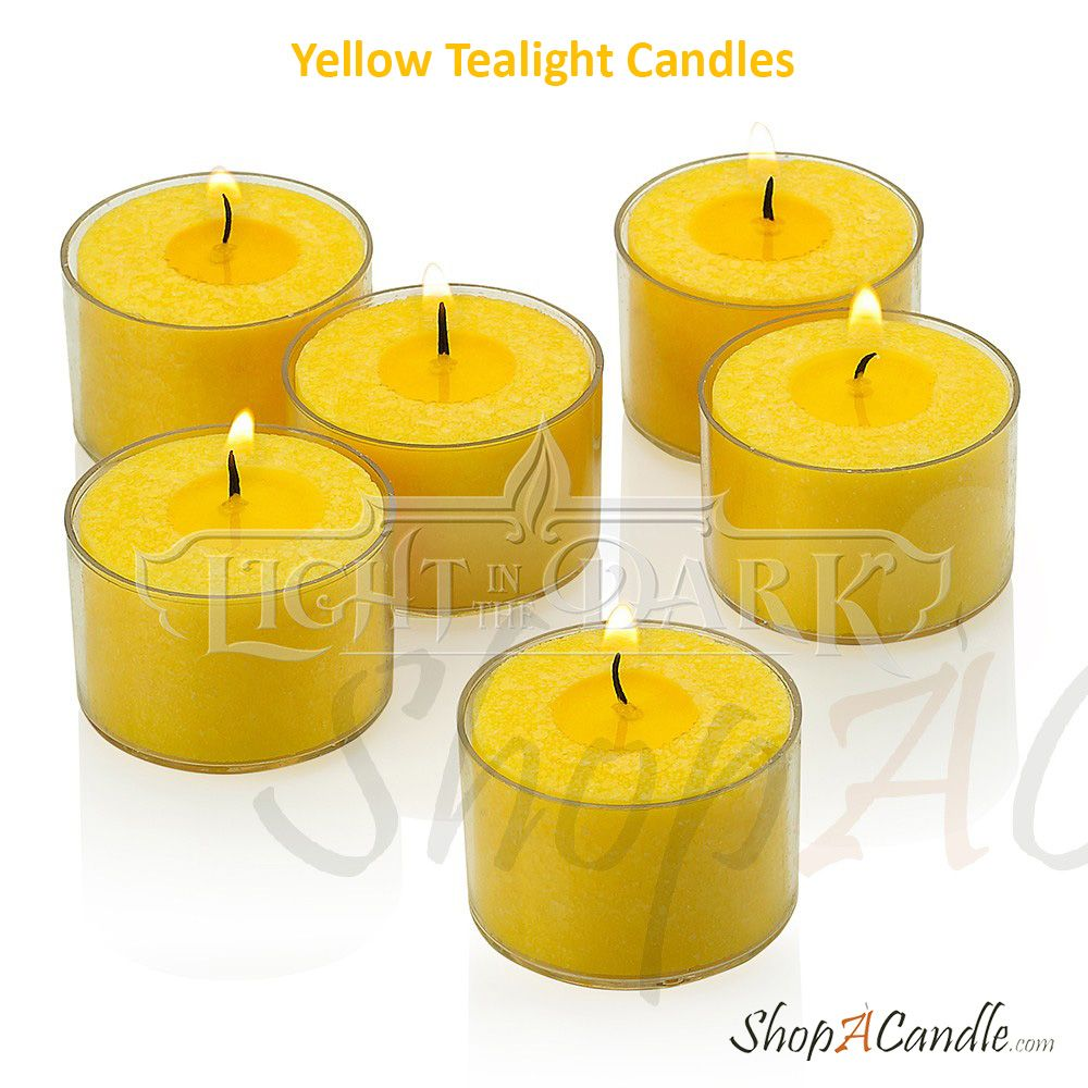 Yellow Tealight Candles Shopacandle Is The Leading Online Candles