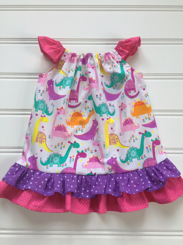 Dinosaur Dress for Toddler Toddler Dress Party Dress for Girl