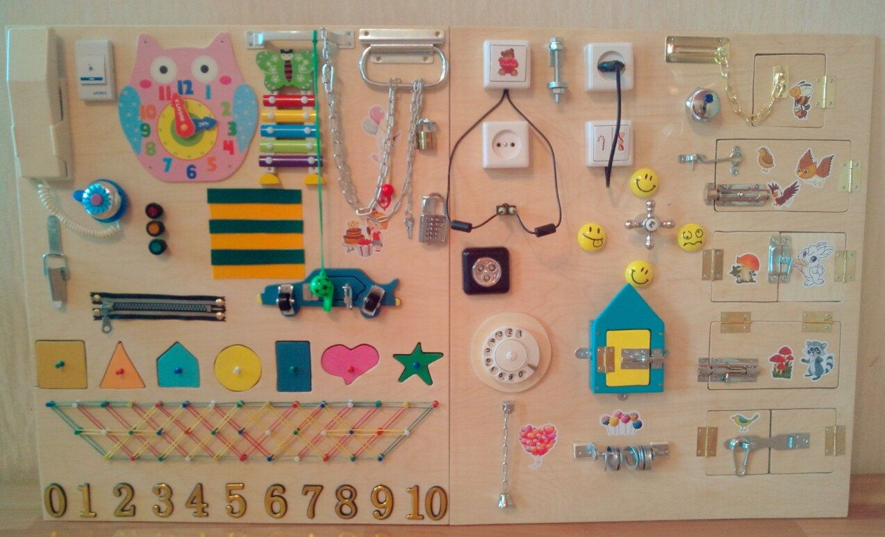 Busy Board 35 Different Elements Size 120x60 Centimeter