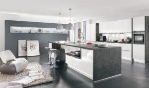 An open-plan kitchen can create a social space, segmented using islands and peninsulas