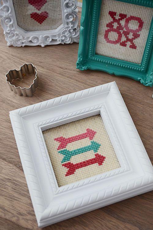 Cross Stitch: Sharp Valentine\'s Day Trends | Punto de cruz, Bordado ...
