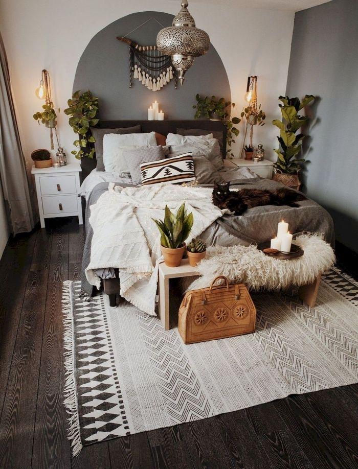 exemple de deco chambre boheme avec objets ethniques ...