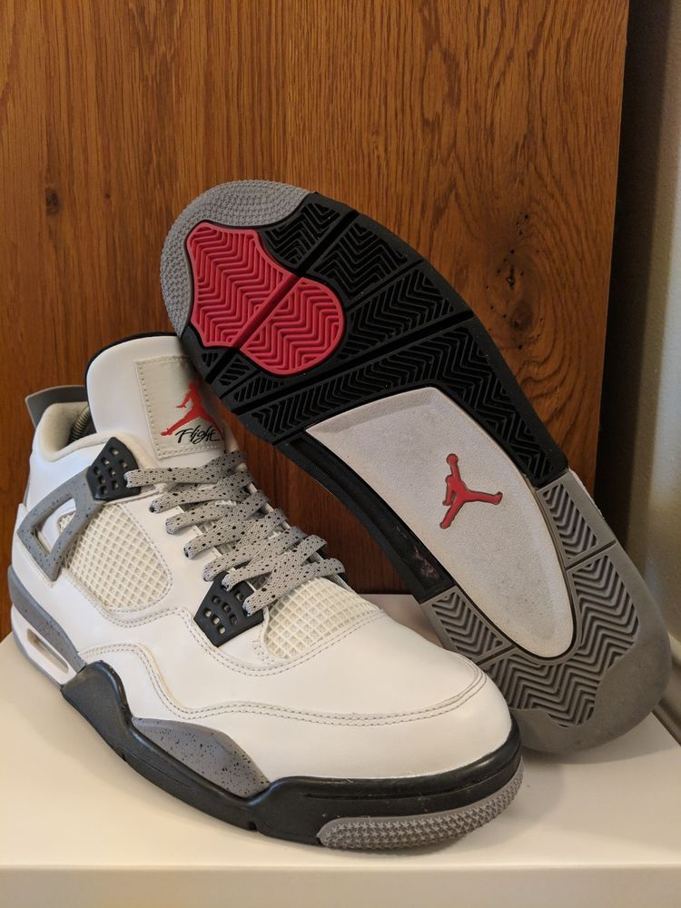 886d2158b6a3 Air Jordan IV 4 Retro 2012 White Cement 308497-103 Size 13 - W  Custom  Laces  fashion  clothing  shoes  accessories  mensshoes  athleticshoes  (ebay link)