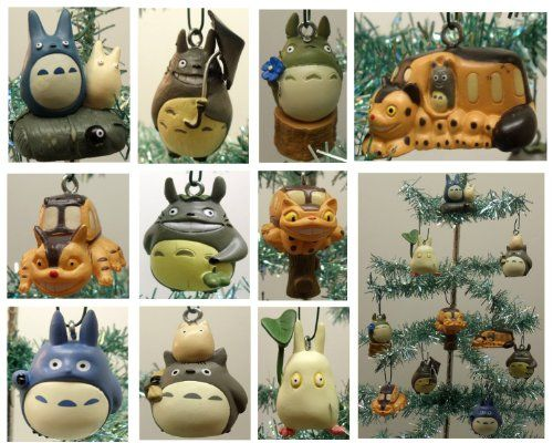Decorate your holiday tree with these fantastic Studio Ghibli Christmas Ornaments! Totoro, Mei, Jiji, Catbus and Ponyo will liven up your Christmas!