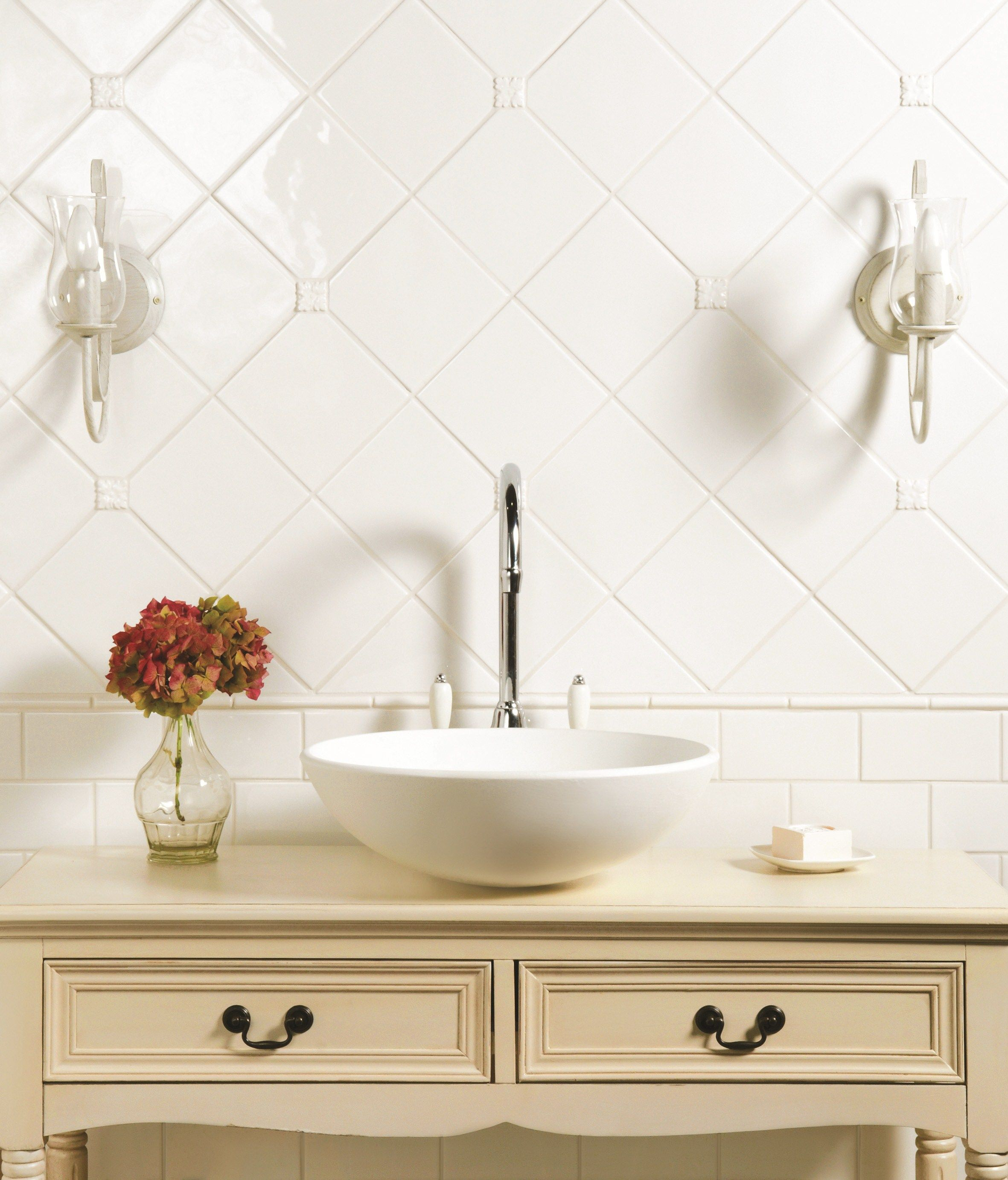 Classic white helmingham tiles are timeless whilst knightsbridge classic white helmingham tiles are timeless whilst knightsbridge drop in tiles add a charming decorative dailygadgetfo Choice Image