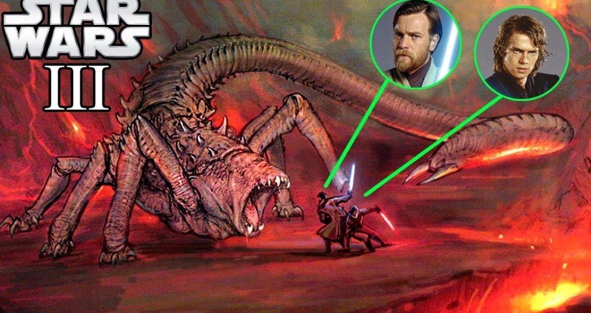 Anakin And Obi Wan S Unknown Monster Fight On Mustafar Star Wars Star Wars Theories Star Wars Obi Wan