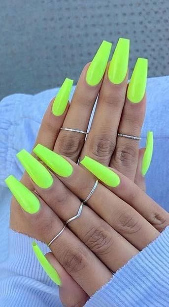 13 Trendy Neon Nail Designs That You Must Wear On Summer Neonnails Summernails Nailart Naildesigns Neon Nail Designs Neon Acrylic Nails Yellow Nails