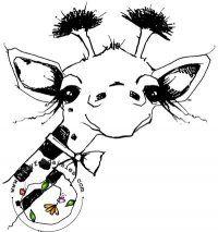 Little Man Giraffe - A Day For Daisies - $4.00