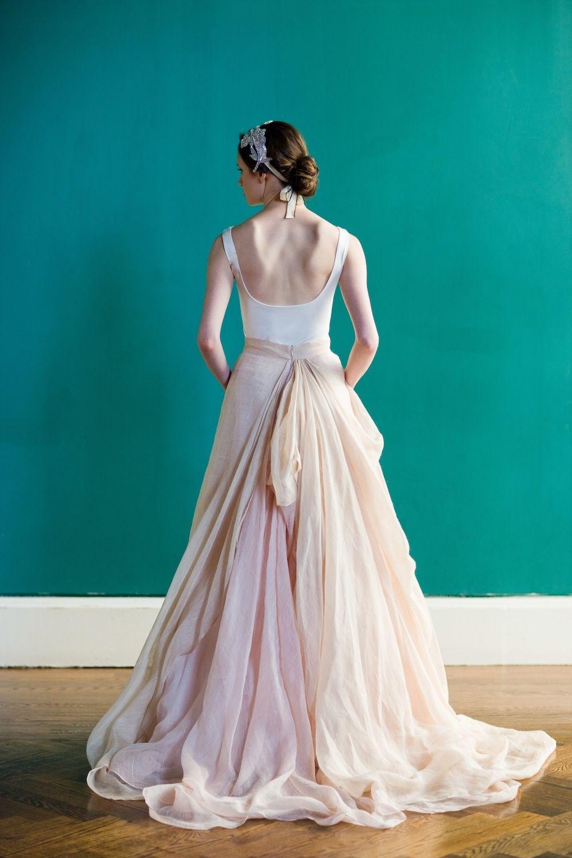Carol Hannah wedding dress Kensington Ball gown Linen street size DE