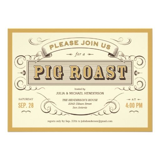 vintage pig roast invitations pinterest pig roast wedding and