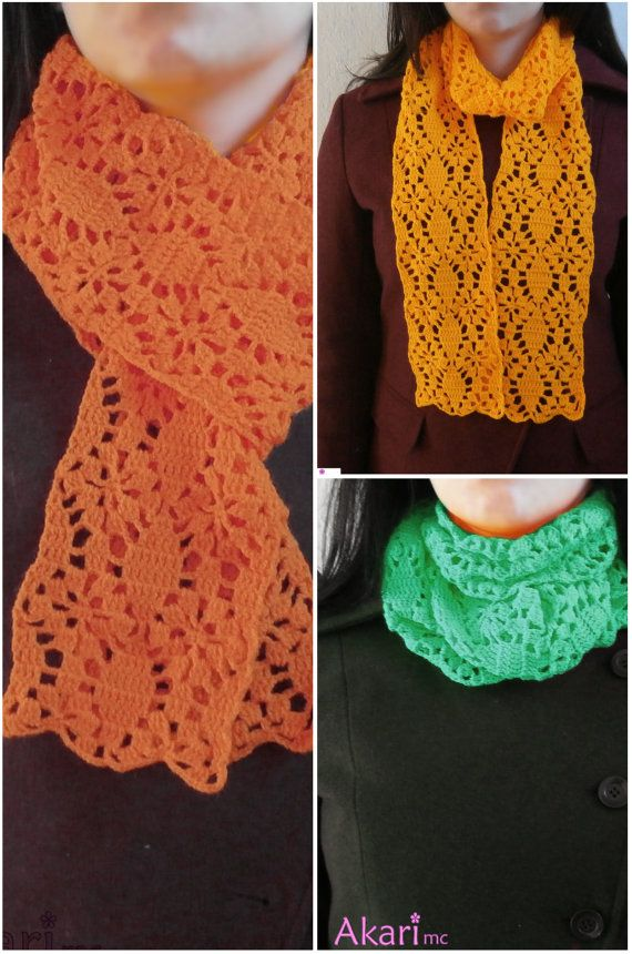 Federal Star Scarf Crochet Pattern Lacy Lightweight Scarf
