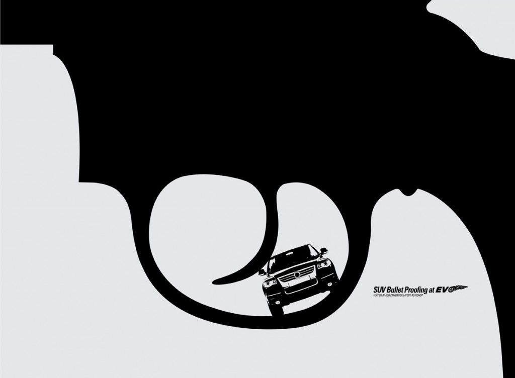 Simple And Minimal Suv Bullet Proofing Ads By Ddb Mudra Bangalore