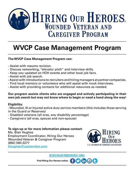 Disability Case Manager Sample Resume Inspiration Did You Know Hiring Our Heroes' Wounded Veteran And Caregiver .