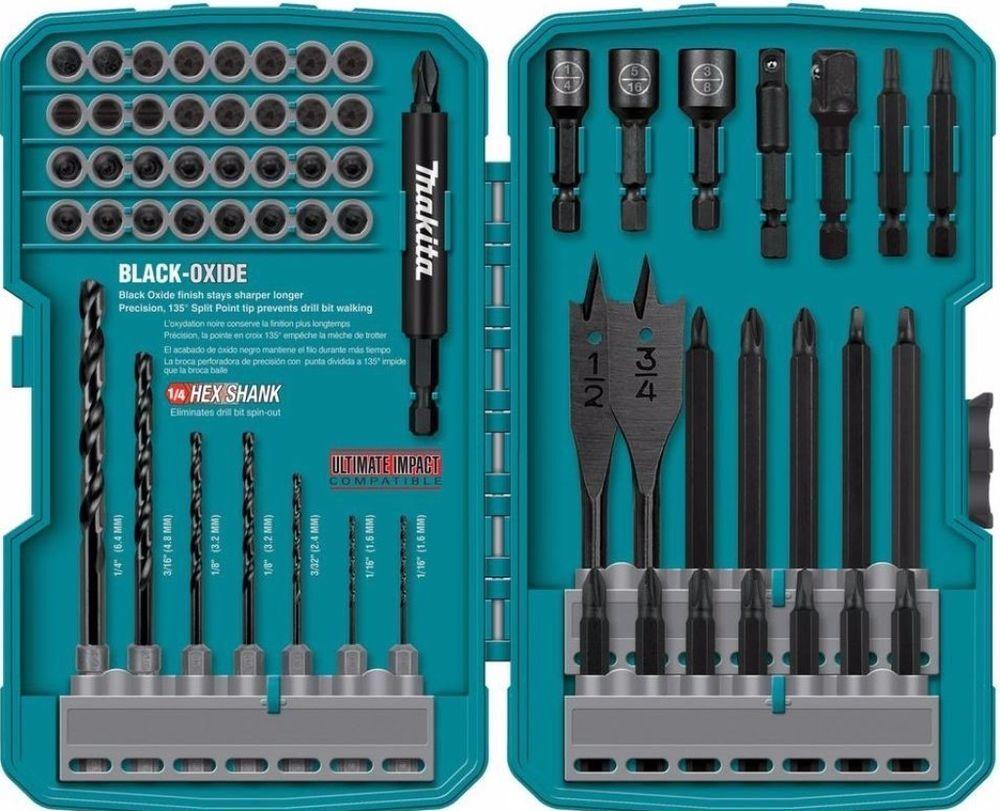 Magnetic Impact Drill Driver Bit 70 Piece Set With Black Oxide Finish New Drill Bits Drill Driver Makita Drill Bit Sets