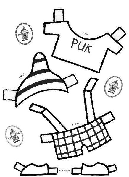 kleed aan puk kinderdagverblijf thema knutselen