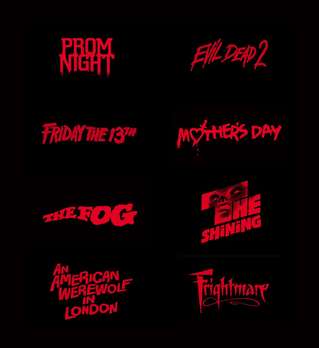 80s horror movies poster typography horror movie