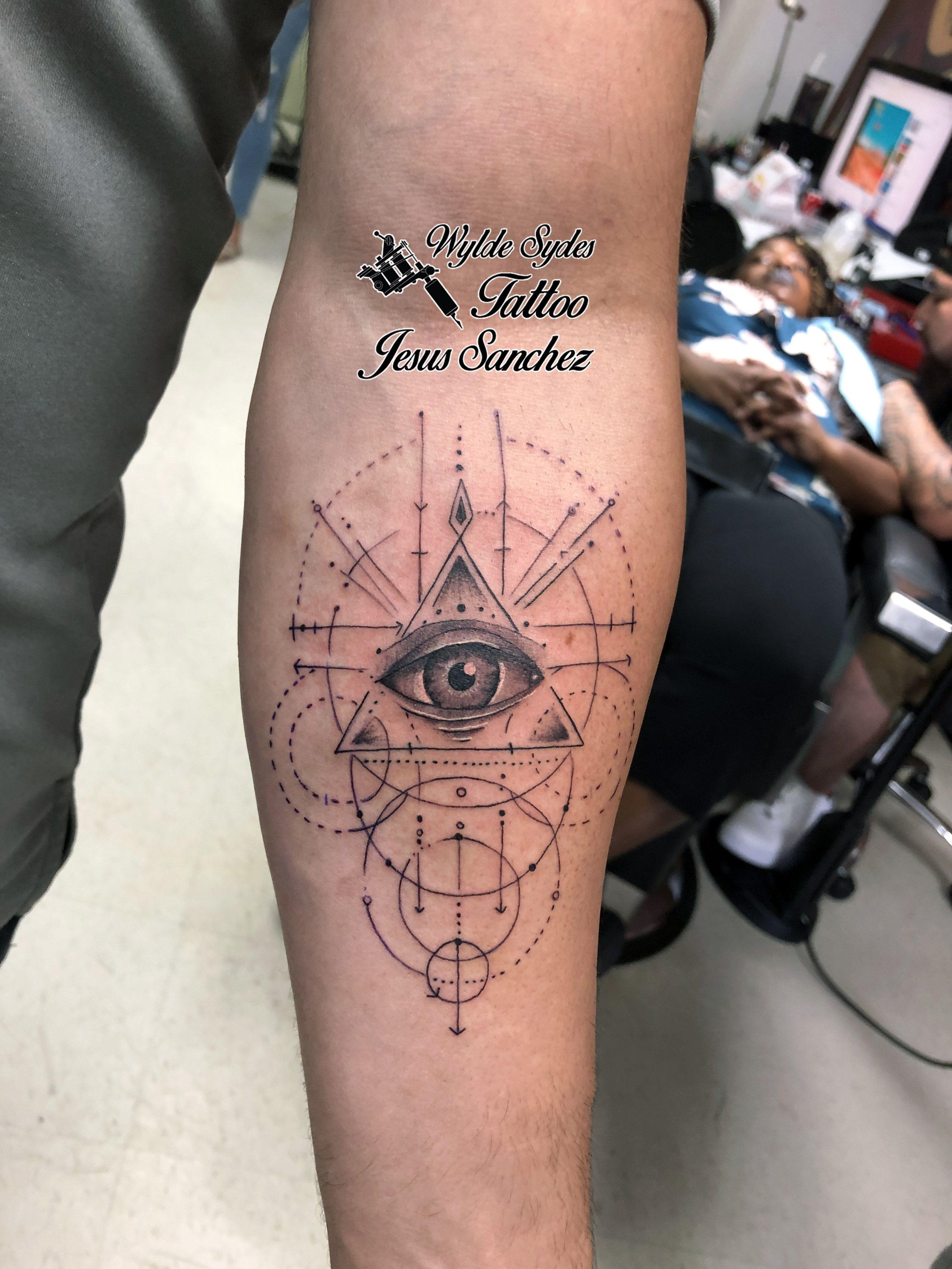 Geometric Eye Tattoo : geometric, tattoo, Geometric, Seeing, Tattoo, Tattoos,, Tattoo,