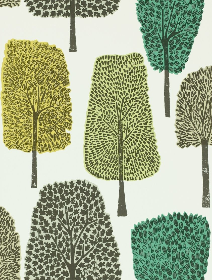 Cedar  Slate, Apple and Ivy wallpaper by Scion