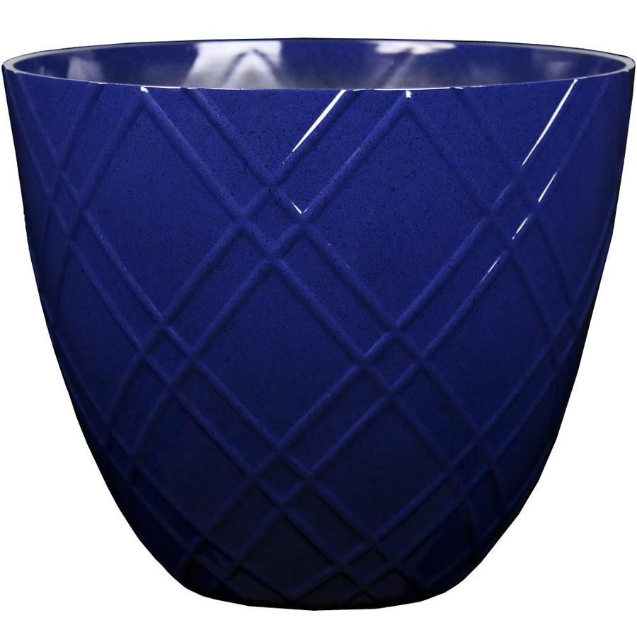 L G Solutions 15 3in Blue Lattice Resin Planter 30 75 Qt 12 97 Strong Weather Resistant Resin Material Lightweight E Resin Planters Planters Blue