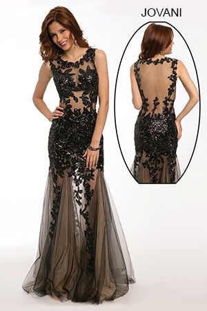 Sleeveless Lace Applique Gown 24551 | Jovani | Pinterest | Lace ...