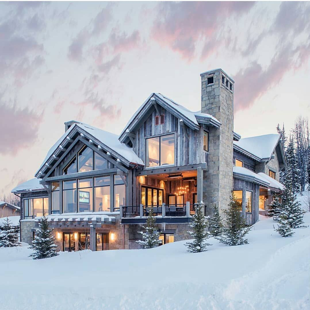 8 Dream House Nature Big Windows In 2020 Big Houses Exterior Mountain Home Exterior House Exterior