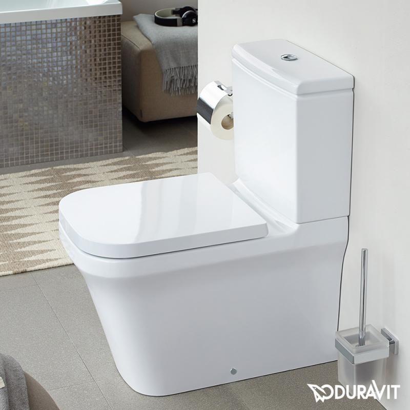 Toilette Duravit duravit p3 comforts stand tiefspül wc kombination rimless weiß mit