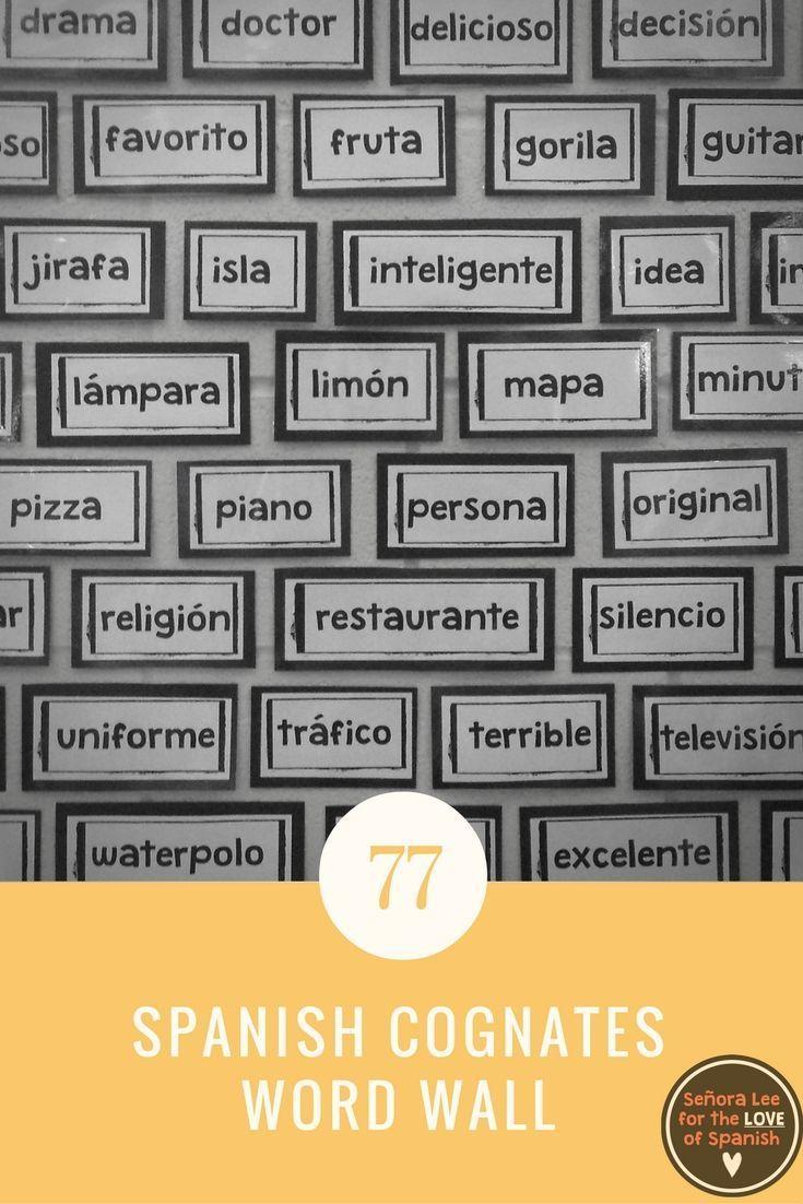 Spanish Cognates WORD WALL #TeachMoreSpanish