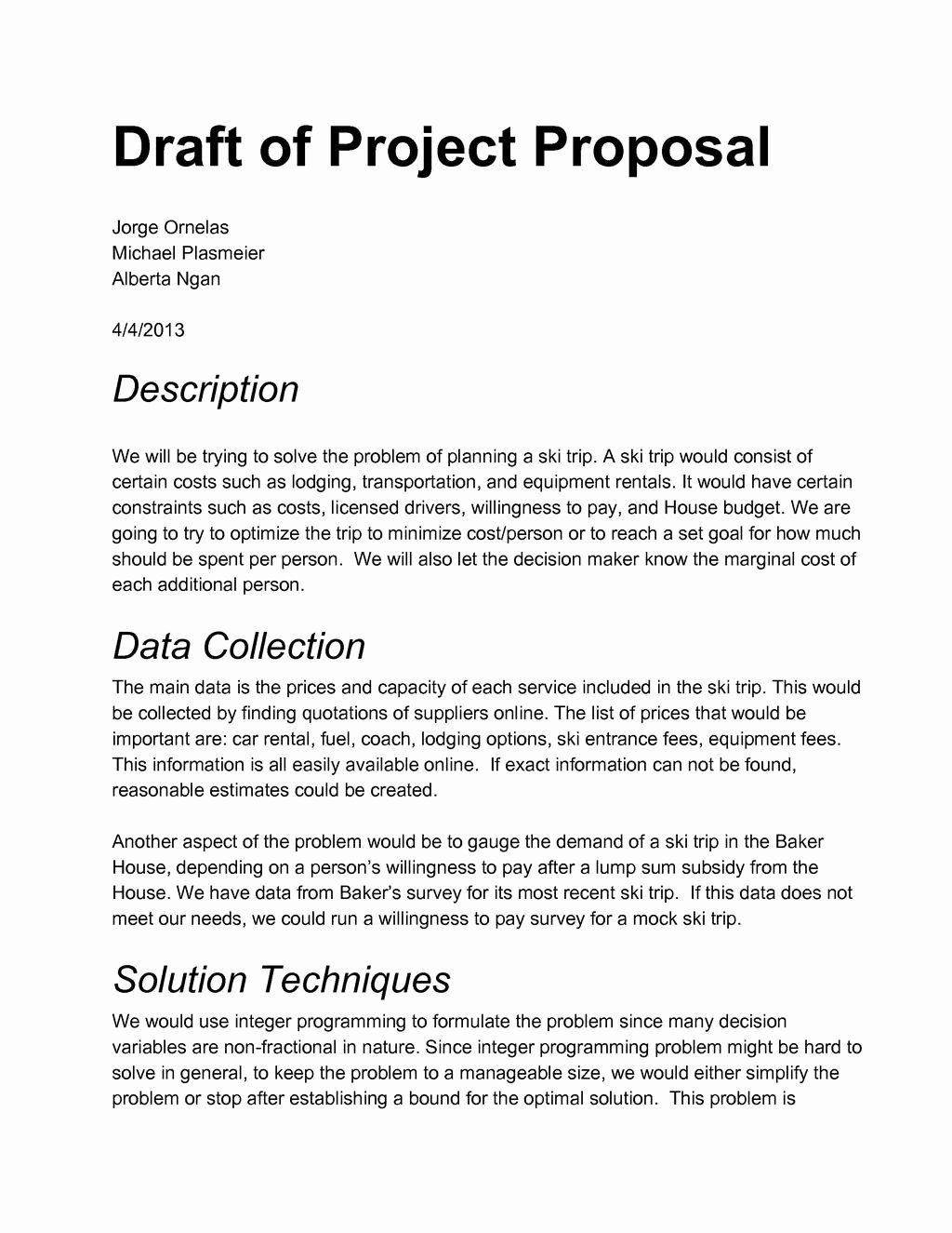 Example Proposals For Projects