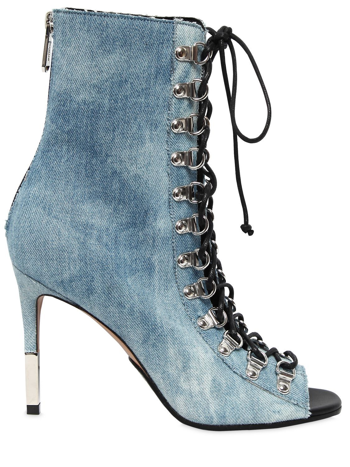 6ecaf71a89 BALMAIN 95MM CLUB DENIM ANKLE BOOTS. #balmain #shoes # | Balmain ...