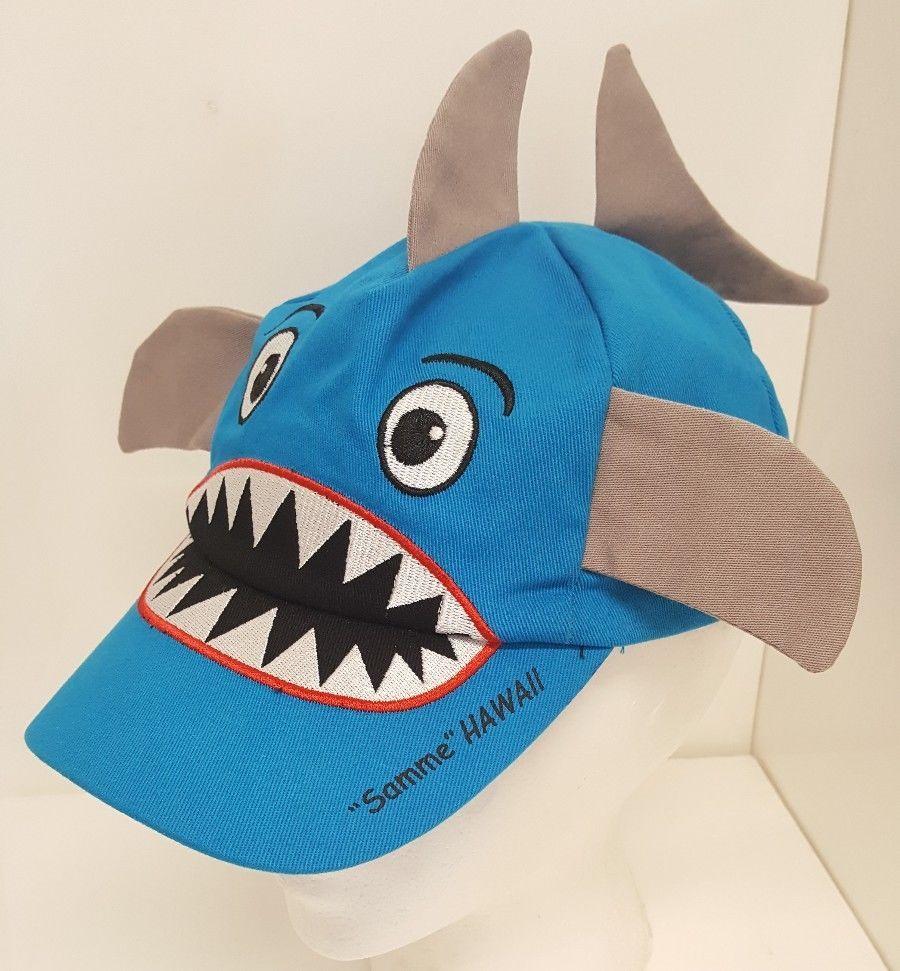 db71bdfa8b8 Hawaii Souvenir Shark Baseball Cap Reef Kids Favorite Hat Strapback Ocean  Blue  ReefKids808  STRAPBACK